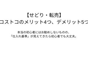 【せどり・転売】コストコのメリット4つ、デメリット5つ